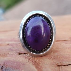 Sterling Silver Purple Sugilite Handcrafted Ring 7